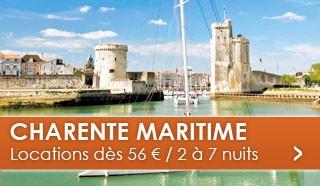 Charente Maritime dès 56 euros / 2 à 7 nuits