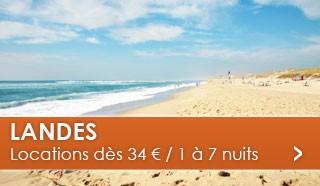 Landes dès 34 euros / 1 à 7 nuits