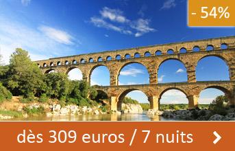 Gard dès 309 euros / 7 nuits (-54%)