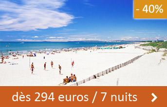 Hérault dès 294 euros / 7 nuits (-40%)