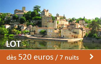 Lot dès 520 euros / 7 nuits